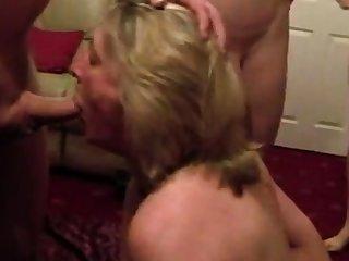 Cumslut wife sucks a lot of men