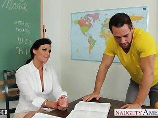 Chesty teacher Phoenix Marie take cock in classroom