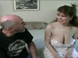 Tessa with a superannuated fart - heavy mammaries