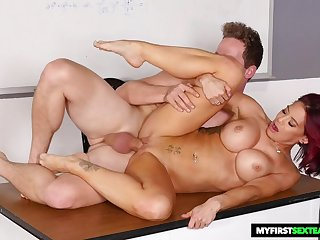 Redhead Teacher Takes Prick - FORNICATE MOVIE