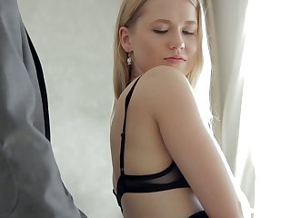 Hot blonde GF Violette Pure is happy to allude strong cock in the morning