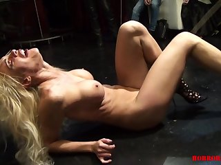 Tied Whore At Kinky Show