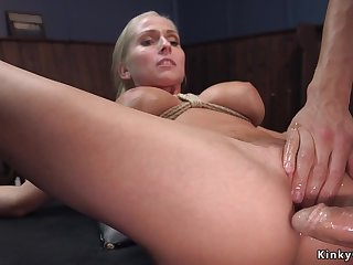 Big knockers blond hair sprog agent assfucking had intercourse in villeinage