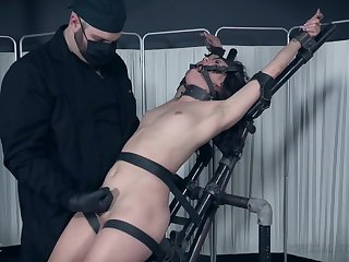 Hardcore BDSM fetish scene with underling girl Alex More tortured