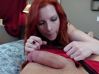 Redhead girl Lady Fyre loves enveloping different sex poses with her join up