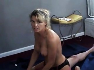 Wife talks dirty while cuckold scrimp films will not hear of with bull