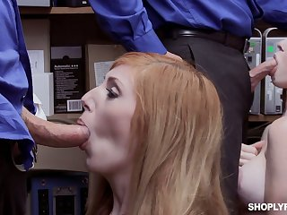 Peppery head Scarlett Snow and say no to girlfriend get punished for shoplifting