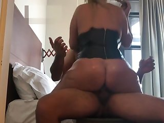big tits bouncing as she rides be expeditious for creampie