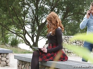 Ginger nerdy student Mary Solaris allows to split her anal hole