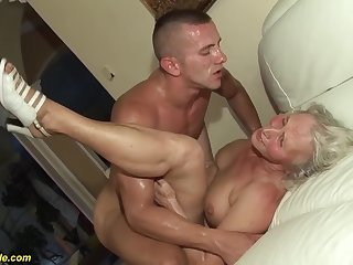 horny 76 years old granny gives a wikd tit fianc