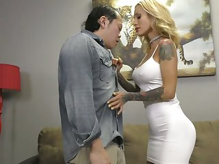 Tattooed domina Sarah Jessie makes Asian submissive swept off one's feet sweaty pussy
