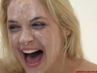 Sarah Vandella Wild Bukkake Gangbang Video
