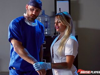 The doctor less a large cock penetrated unfathomable cavity in Kissa Sins