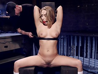 Cute girl Carter Cruise gets a ball gag to privy her up during anguish