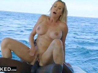 Black guy fucked Brandi Honour beyond the boat