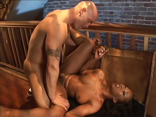 ebony babe Stacey Cash interracial sex