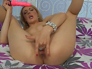 Dildo With an increment of Playful Fingers In Action - Gina MILF