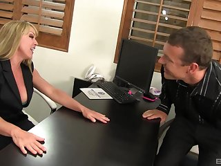 Sexy wife Shayla Laveaux spreads her legs far ride a large dick