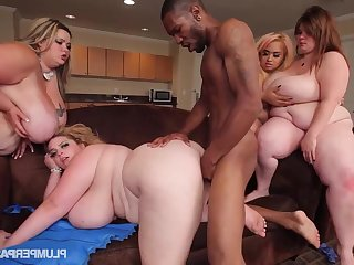 Mandy Majestic, Sashaa Titties, Lovely Sillk -BBW
