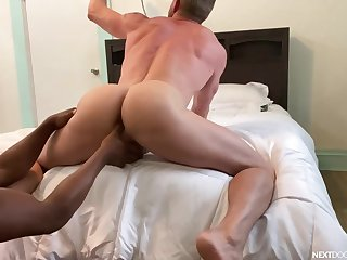 Full anal relating to POV gay porn with a black dude and his wan lover