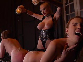 Kayla Green & Liona Levi & Lulu Love relating to Smoking Hot: Lesbian Teens Ass Fucked Away from Busty Dominatrix - KINK