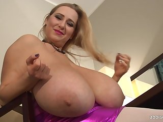 Table Dusters - euro kirmess cougar with monster boobs teasing solitary